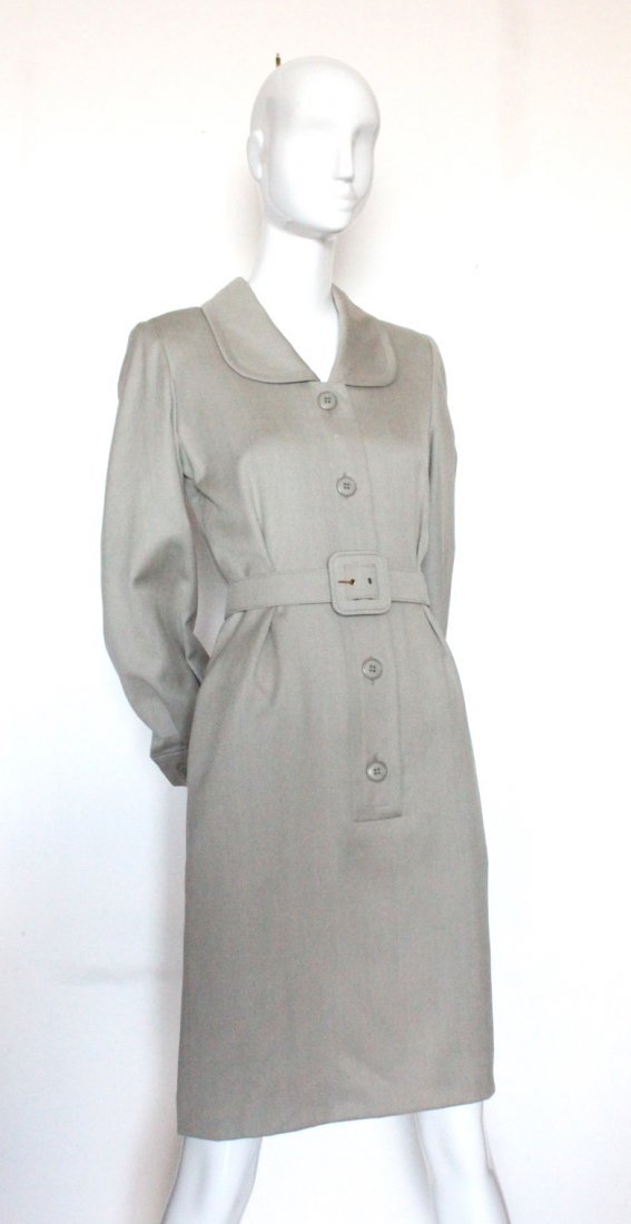 Givenchy Couture Light Gray Wool Dress, Fall 1995