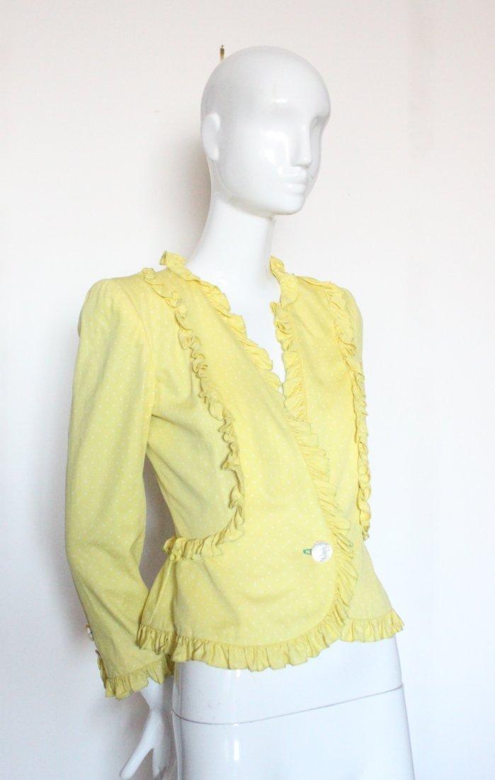 Valentino Yellow Polka Dot Silk Jacket, c.1990's