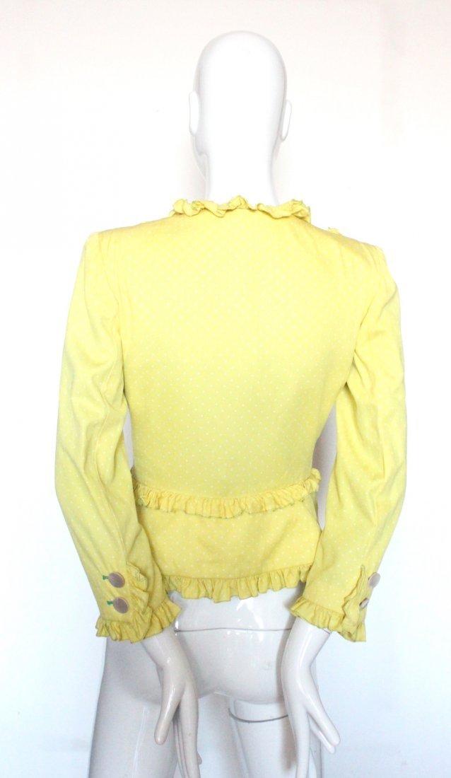 Valentino Yellow Polka Dot Silk Jacket, c.1990's - 2