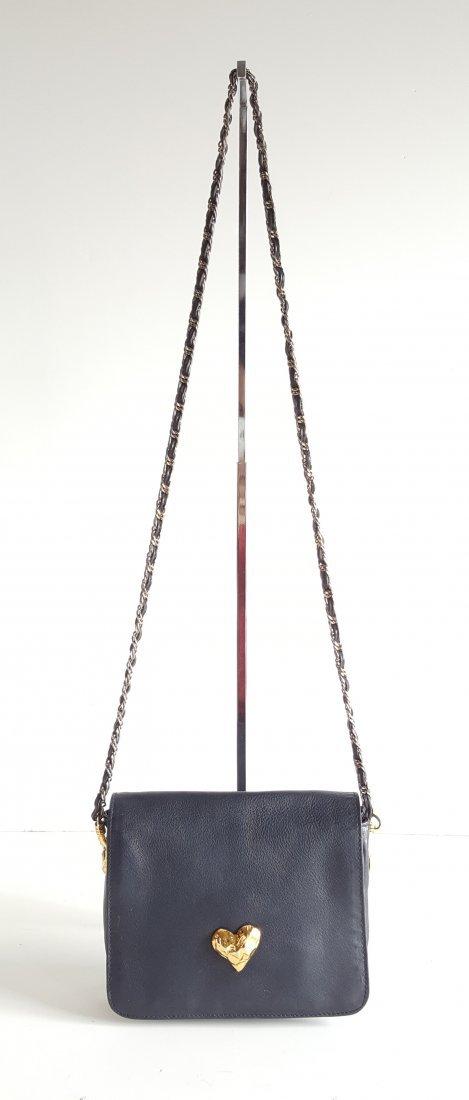 Edouard Rambaud Leather Bag with Gold Hardware,1980's