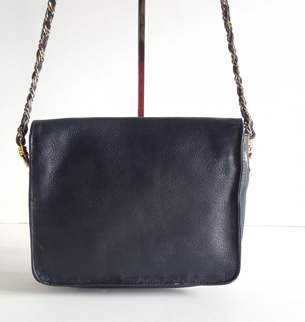 Edouard Rambaud Leather Bag with Gold Hardware,1980's - 3