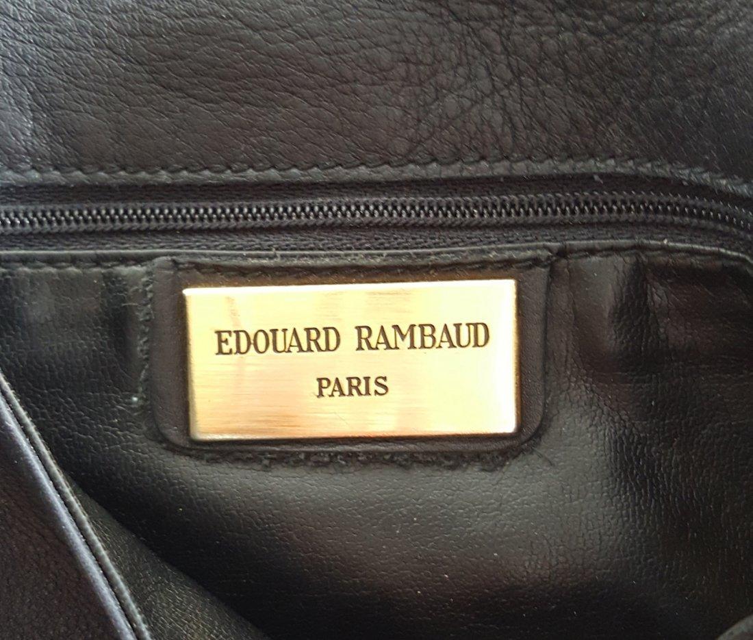 Edouard Rambaud Leather Bag with Gold Hardware,1980's - 4
