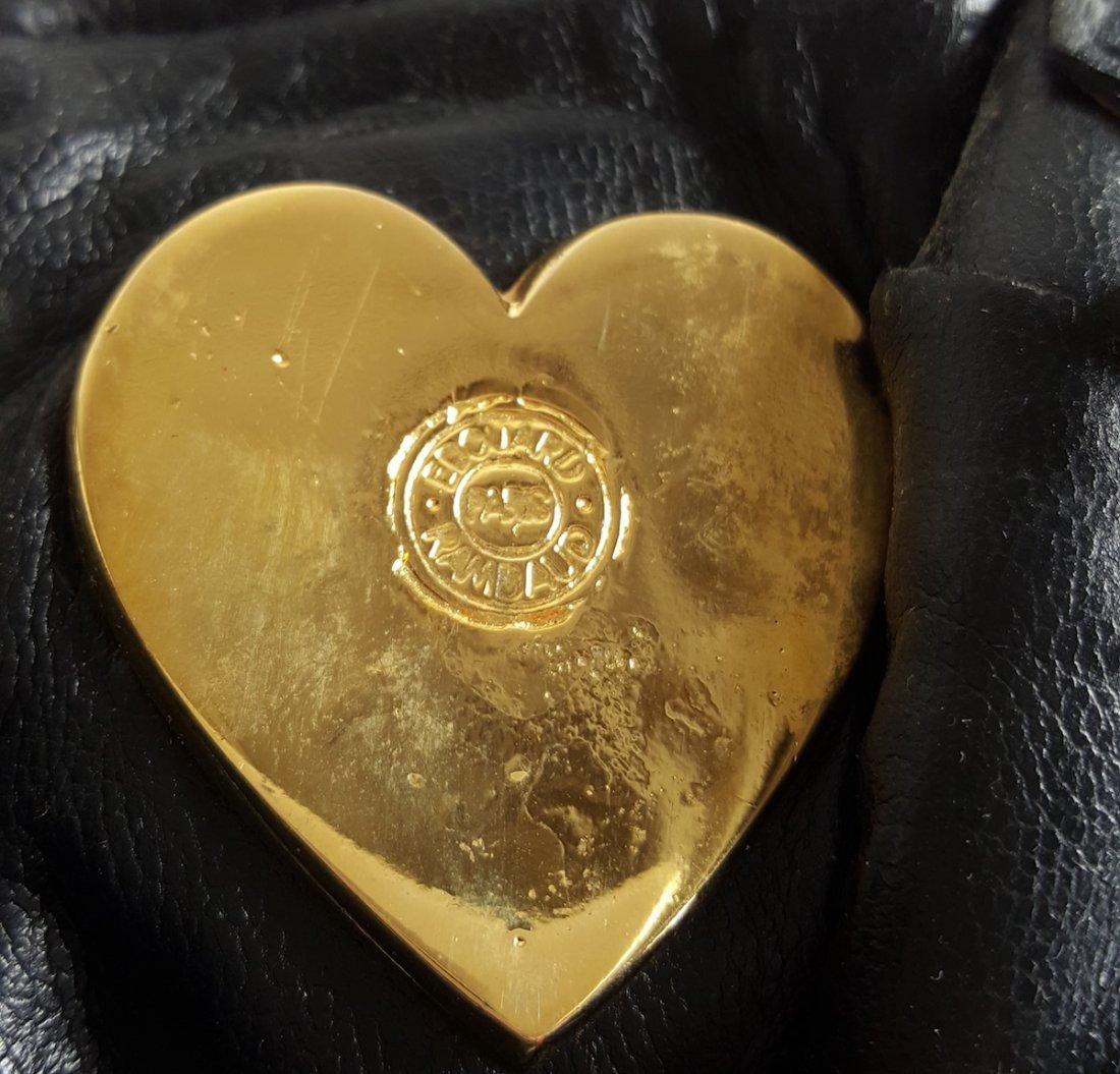Edouard Rambaud Leather Bag with Gold Hardware,1980's - 5