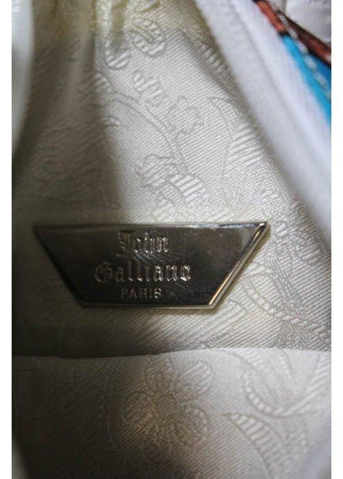 John Galliano Fashion Print Canvas Bag, early 2000's - 4