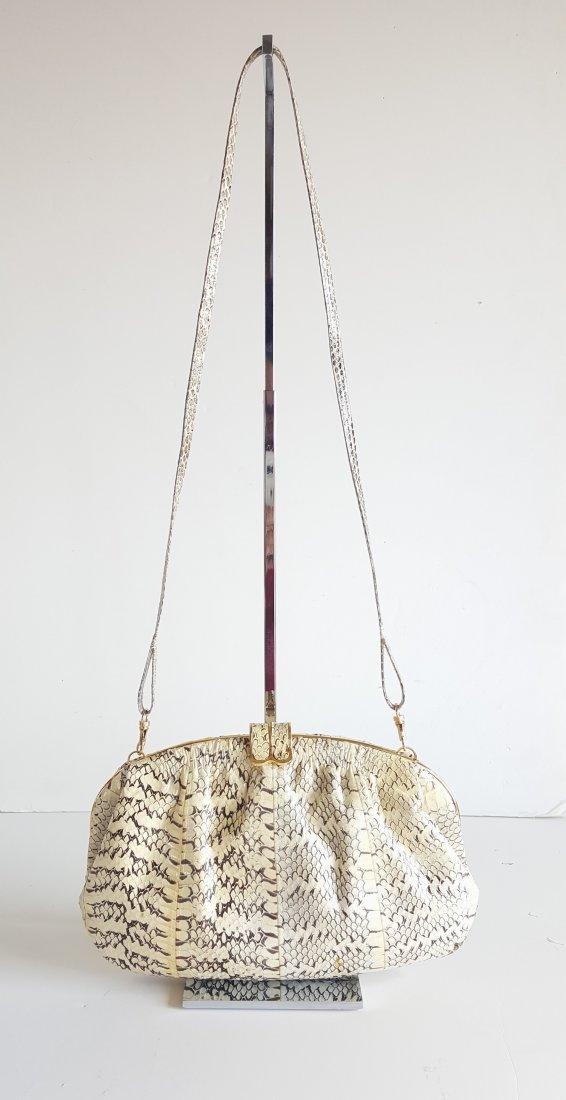Adriana Ferrari Milano Snake Skin Frame Bag, c.1980's