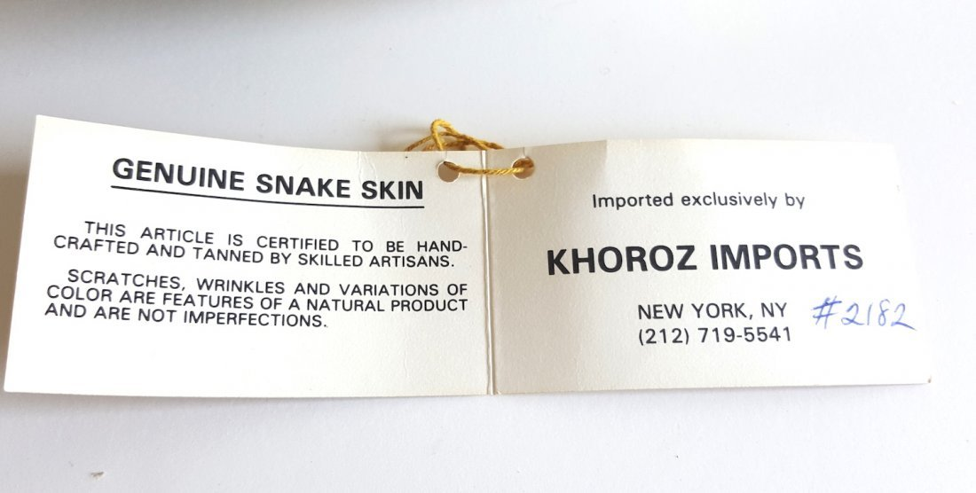 Adriana Ferrari Milano Snake Skin Frame Bag, c.1980's - 5