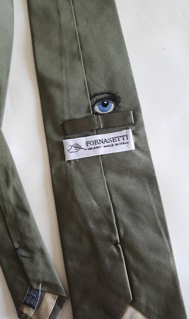 Piero Fornasetti 'Occhi' Green Silk Tie, c.1980's - 3