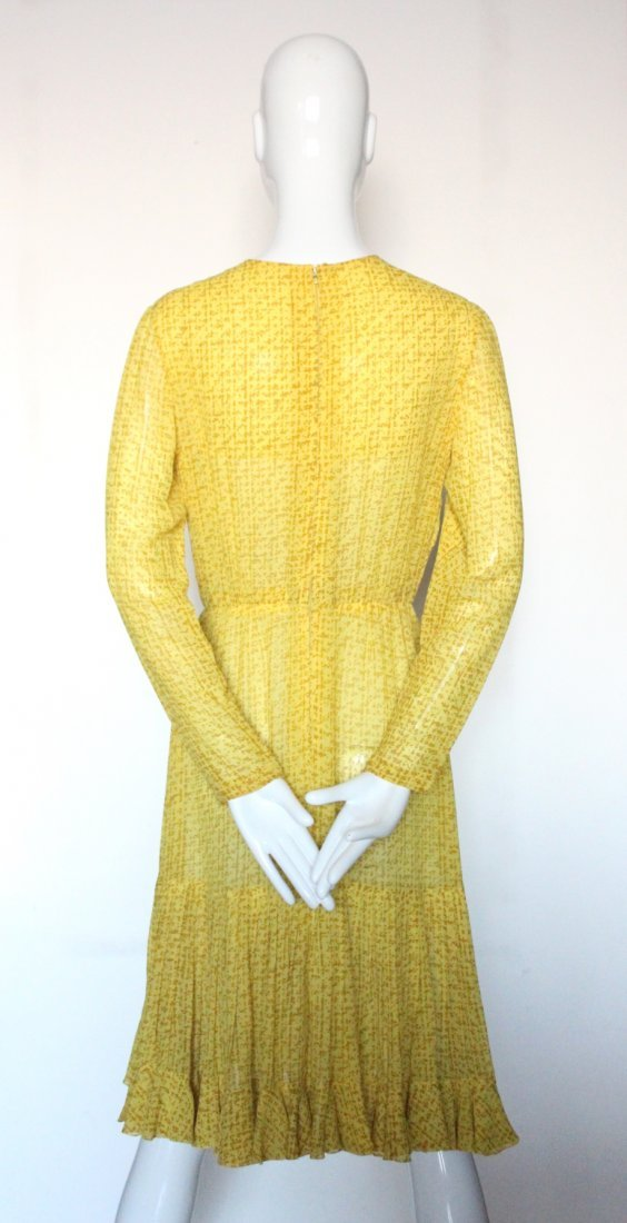 Christian Dior Haute Couture Yellow Silk Dress F/W 1975 - 2