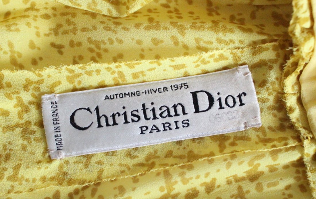 Christian Dior Haute Couture Yellow Silk Dress F/W 1975 - 3