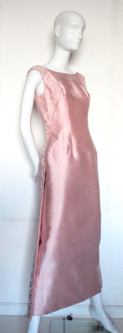 Pierre Balmain Beaded Pink Silk Evening Dress, S/S 1965 - 2