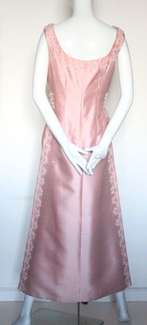 Pierre Balmain Beaded Pink Silk Evening Dress, S/S 1965 - 3