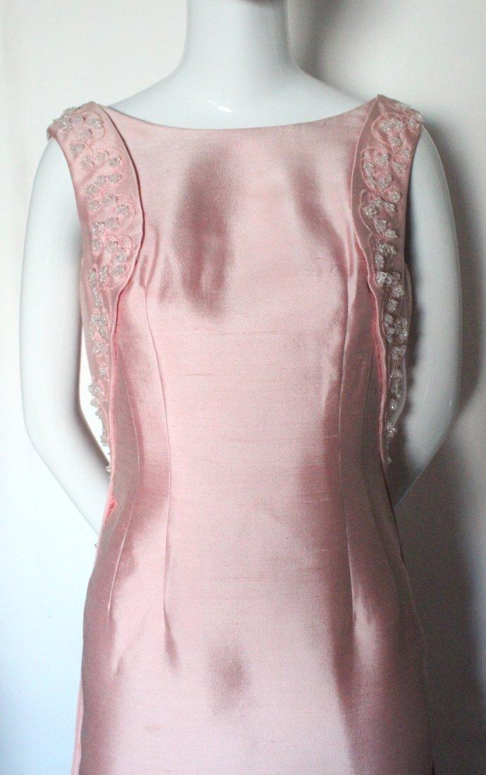 Pierre Balmain Beaded Pink Silk Evening Dress, S/S 1965 - 4