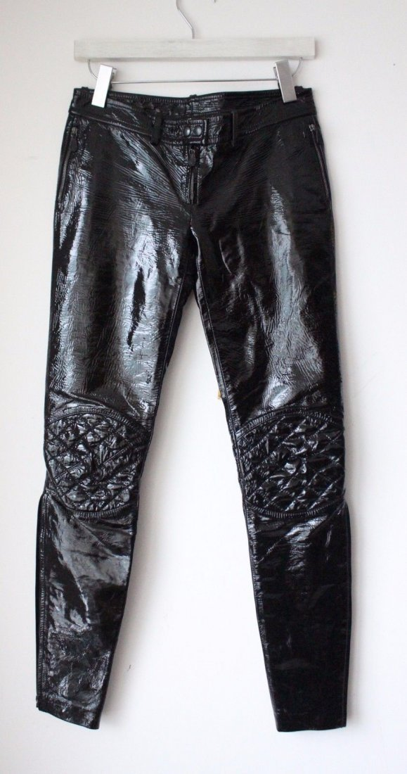 Alexander McQueen Black Patent Leather Pants, F/W 2008