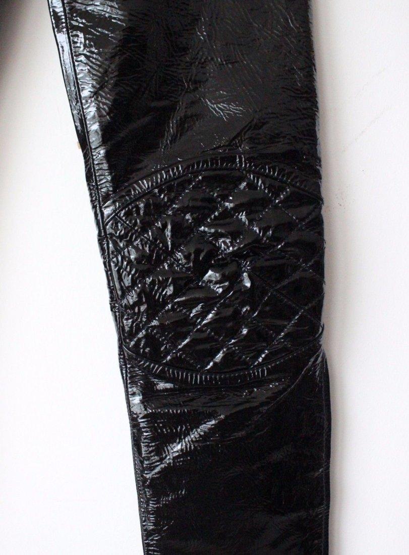 Alexander McQueen Black Patent Leather Pants, F/W 2008 - 4