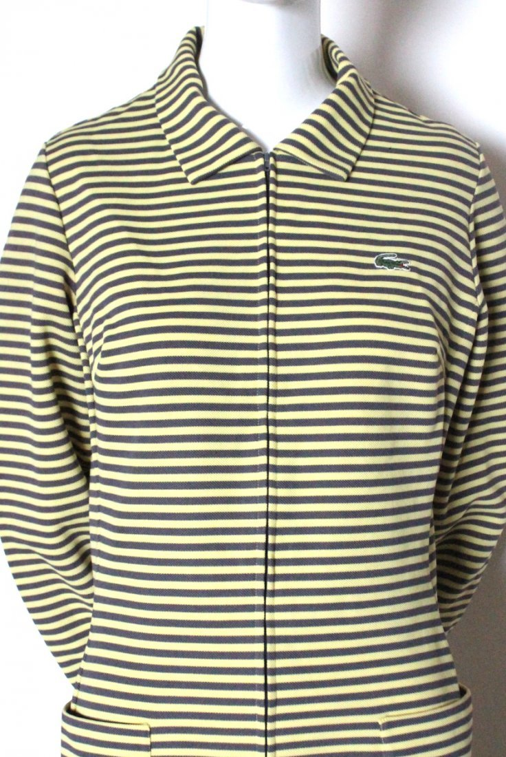 Lacoste Yellow & Brown Striped Jersey Dress, c.1970's - 2