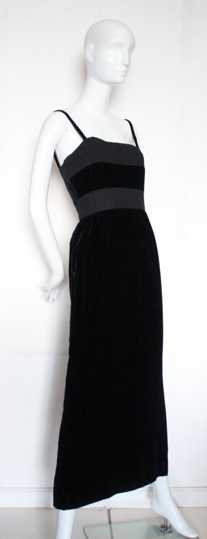 Madame Gres Haute Couture Black Dress, ca. early 1960's
