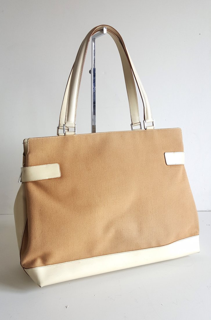 Salvatore Ferragamo Canvas & Leather Large Tote Bag - 2