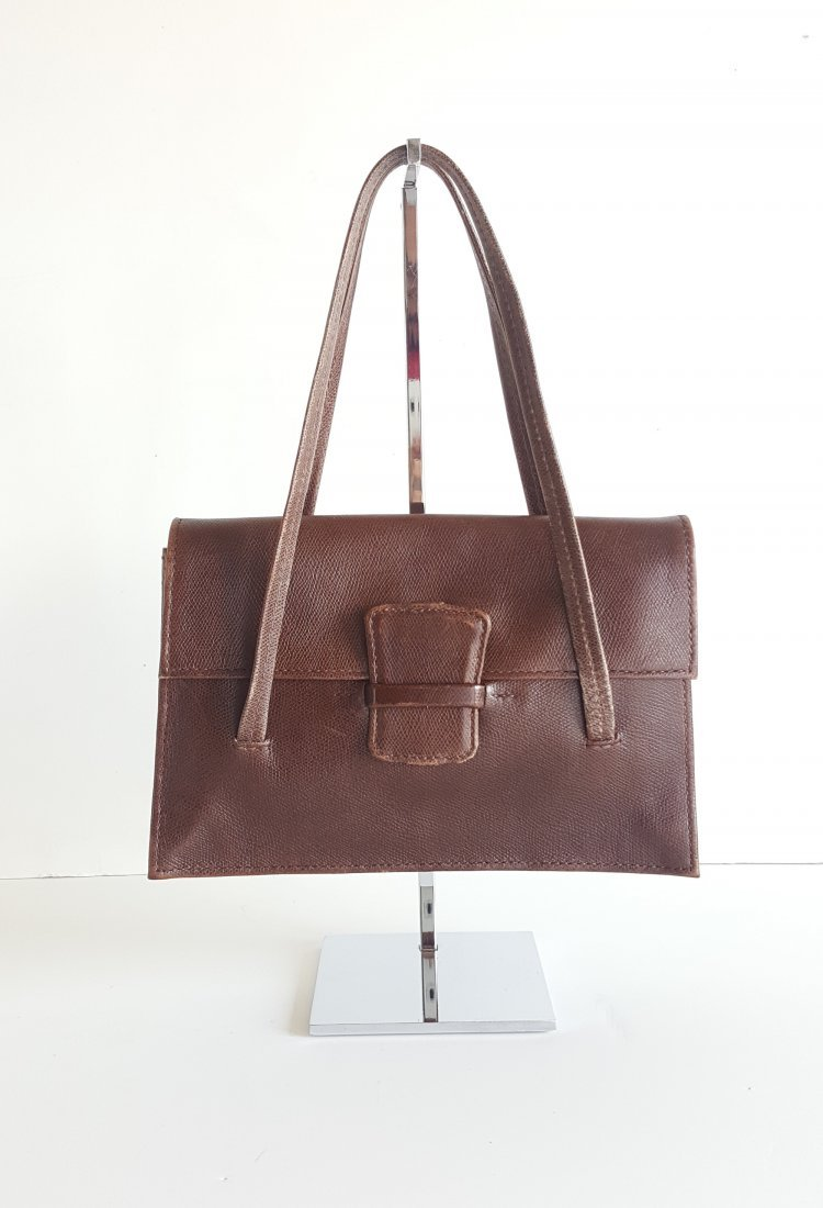 Henry Beguelin for Barney's Brown Leather Hangbag