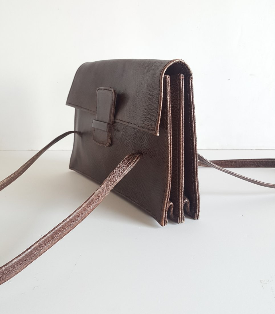 Henry Beguelin for Barney's Brown Leather Hangbag - 3