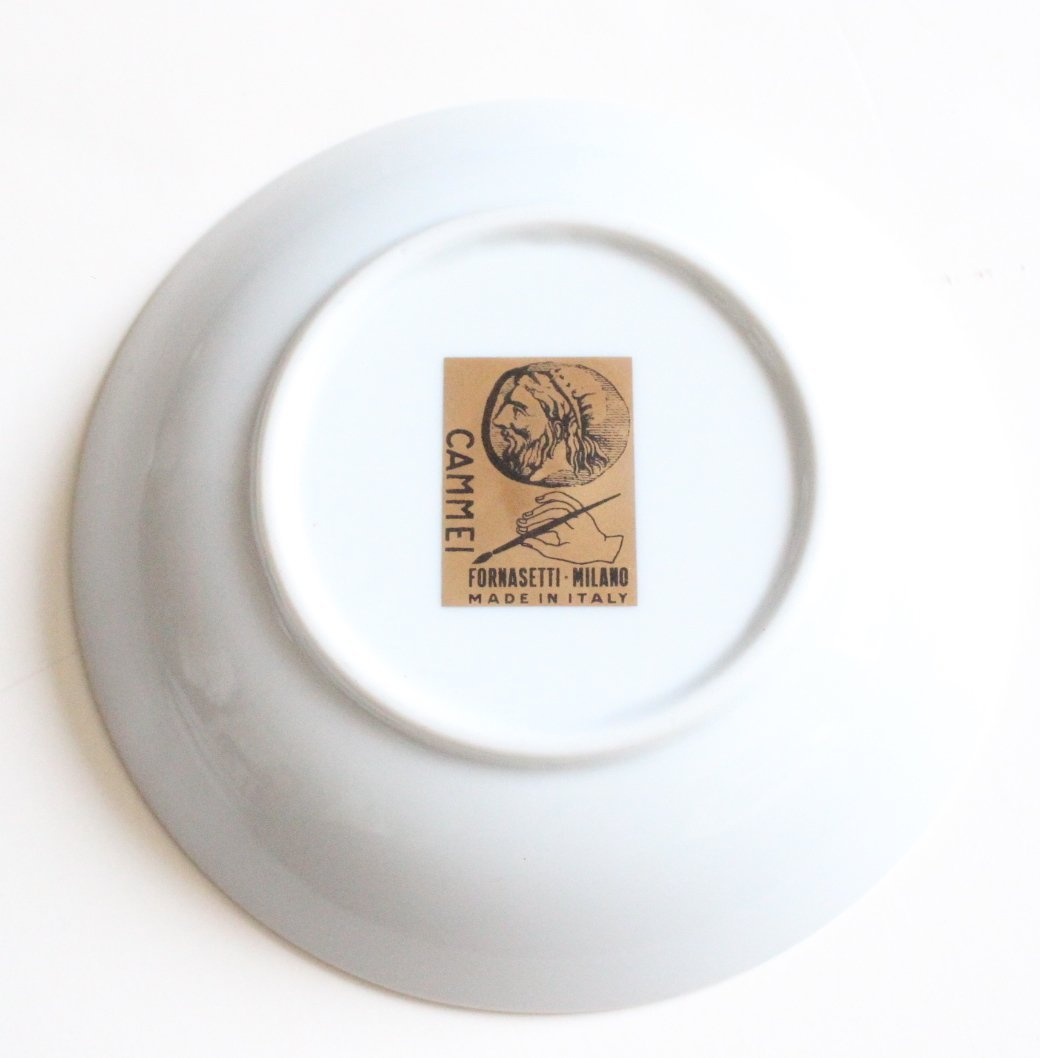 Fornasetti Cammei Porcelain Bowl, ca.1950's - 2