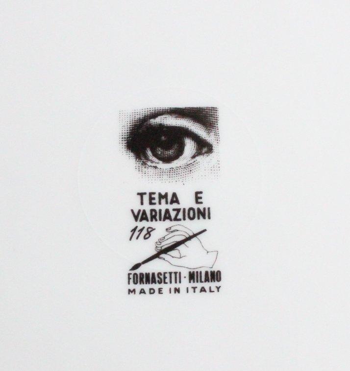 Fornasetti Tema E Variazioni #118 Plate, c.1950's - 3