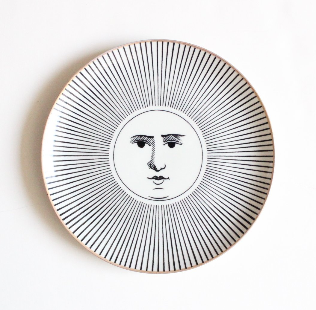 Piero Fornasetti Soli E Lune Plate, c.1950's