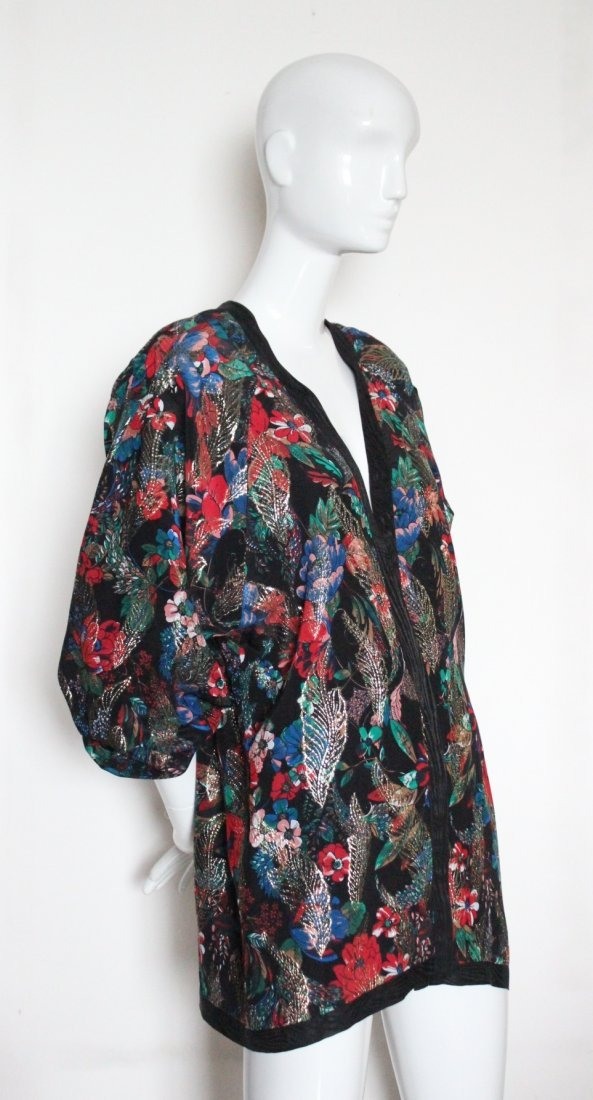 Diane Freis Limited Edition Silk & Lurex Jacket c.1980s