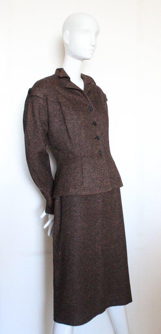 Anthony Blotta Brown & Black Tweed Suit, ca. 1950's