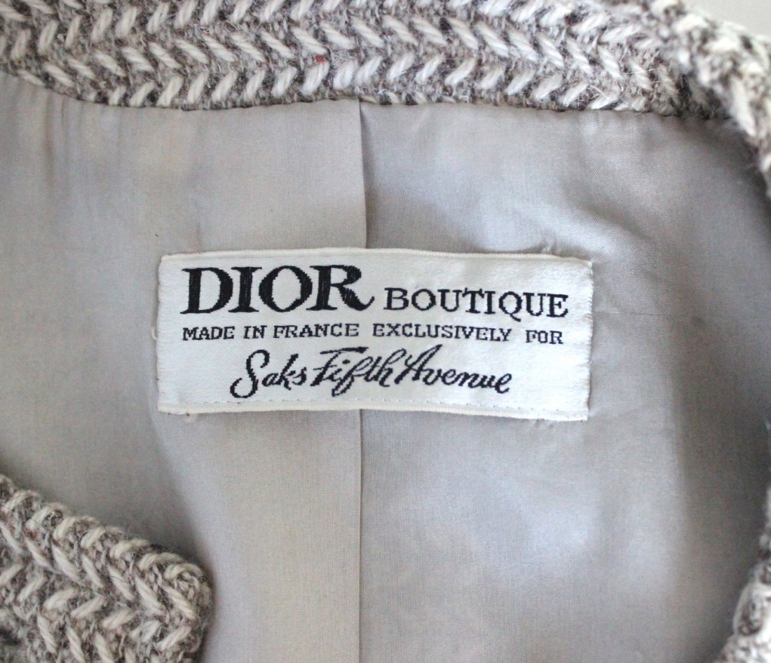 Christian Dior for Saks Fifth Avenue Wool Suit,c.1960's - 3
