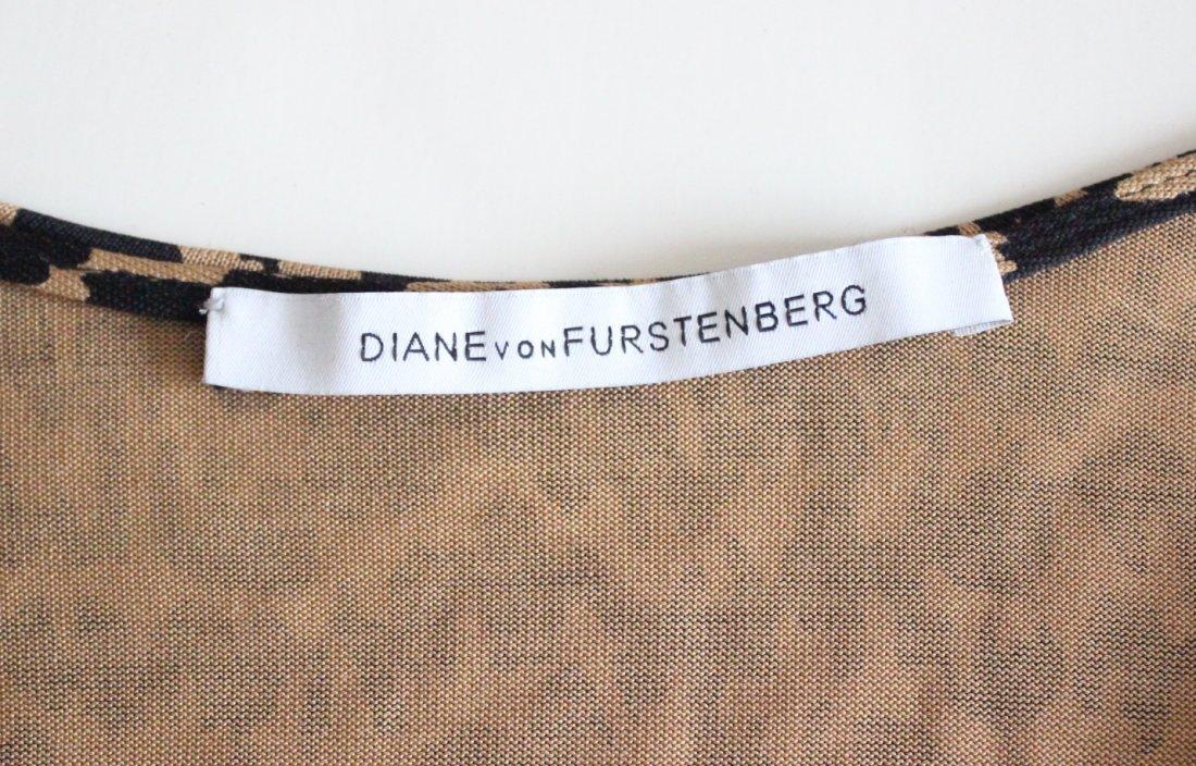 Diane Von Fursterberg Brown Print Jersey Wrap Dress - 3