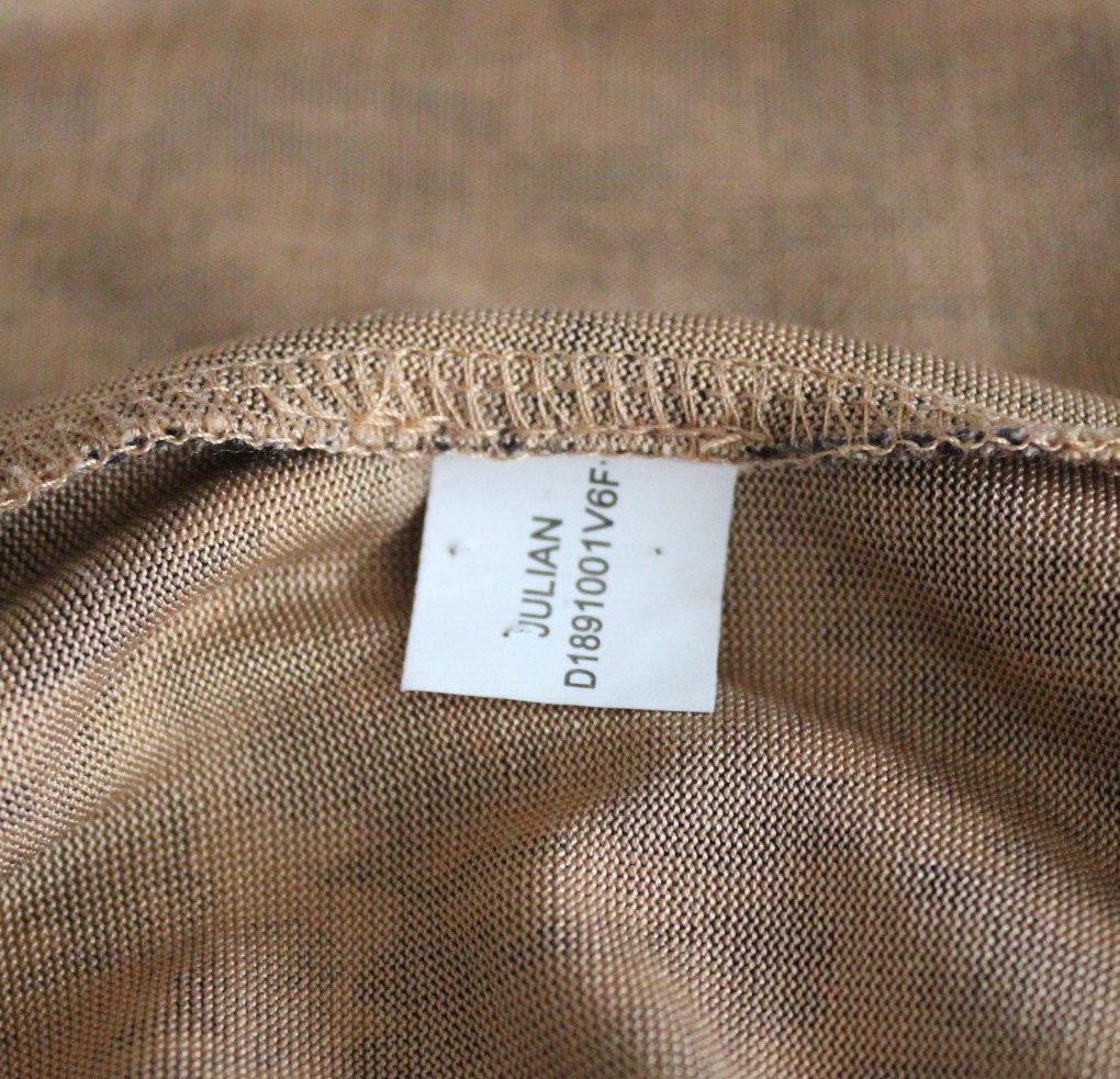 Diane Von Fursterberg Brown Print Jersey Wrap Dress - 4