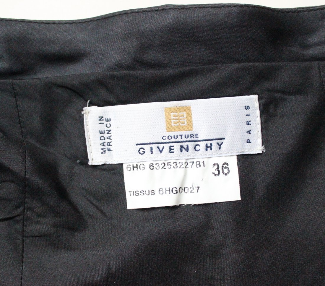 Givenchy By John Galliano Black Silk Gazar Dress 1996 - 3