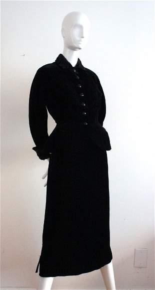 Meyer Jonasson Co. Velvet New Look Suit, late 1940's