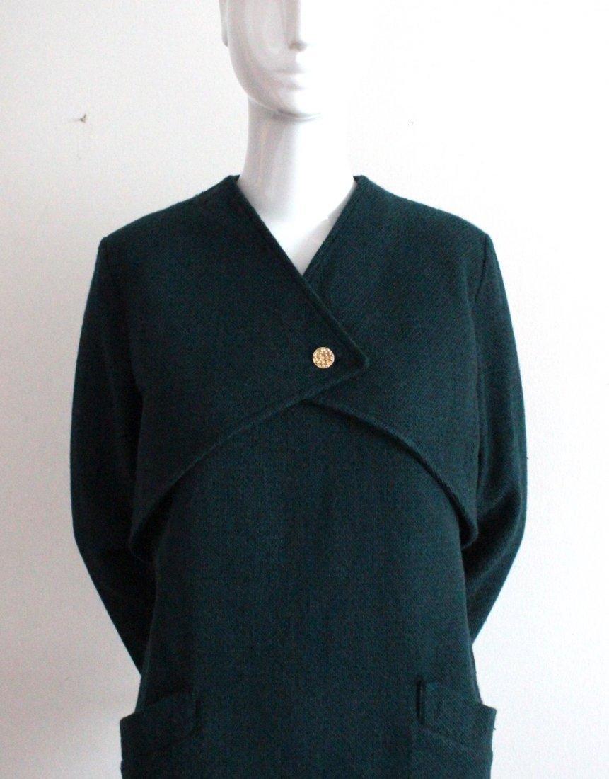 Creation Pierre Cardin Green Wool Dress, c.1970's - 2
