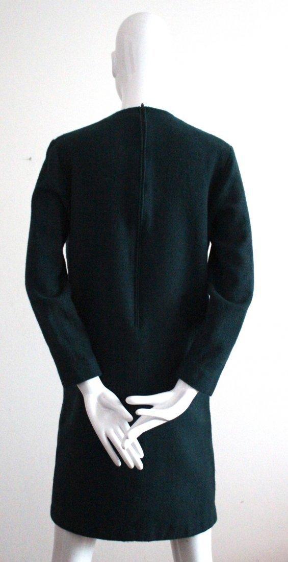 Creation Pierre Cardin Green Wool Dress, c.1970's - 3