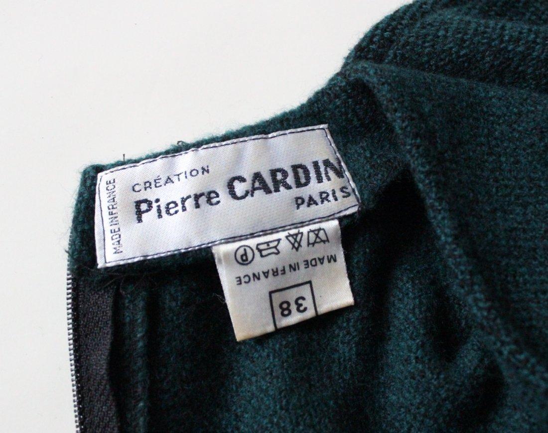 Creation Pierre Cardin Green Wool Dress, c.1970's - 4