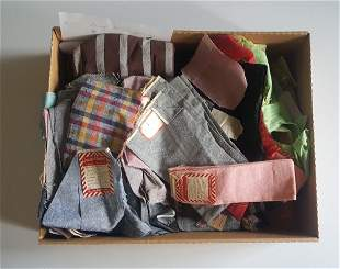 1950's A Box of Cotton Fabric Samples