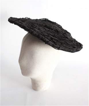 Early 1900's Black Straw & Silk Hat