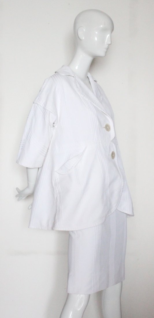 Rudi Gernreich for Walter Bass White Cotton Suit 1950's