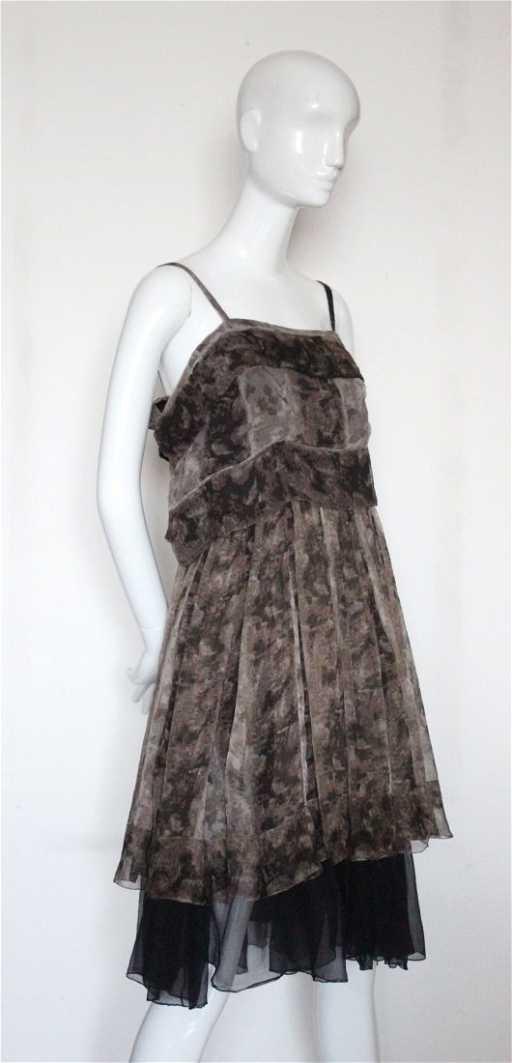 c6ce0964723 Galanos Printed Chiffon Dress