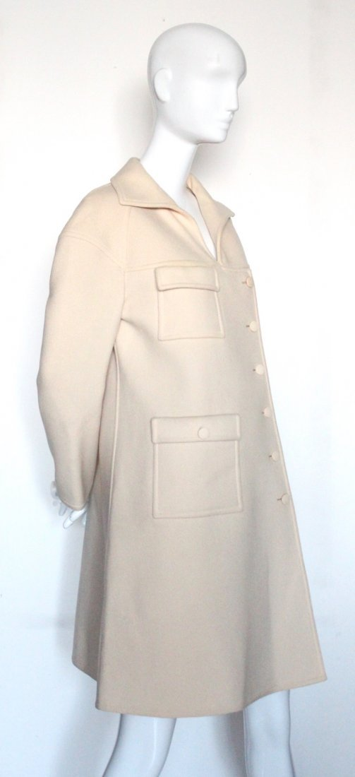 Courreges Future Couture Wool Coat, ca. early 1970's