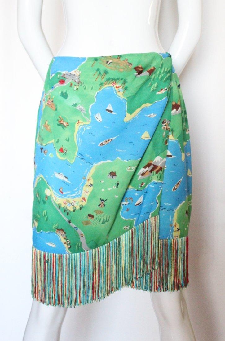 Perry Ellis by Marc Jacobs Printed Silk Skirt, S/S 1992