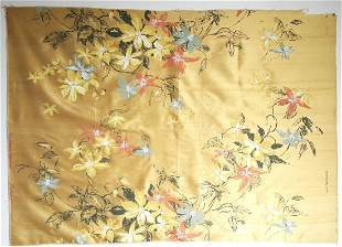 Elsa Schiaparelli Printed Silk Fabric Panel, ca. 1956