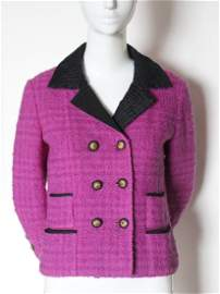 Iconic Chanel Haute Couture Pink Tweed Jacket, F/W 1961