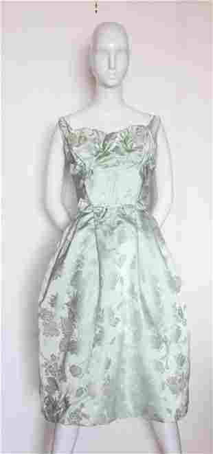 Florence Lustig Couture Cocktail Dress ca 1958