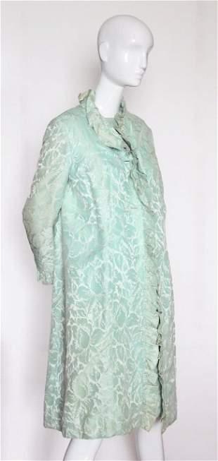 Scaasi Boutique Green Brocade 3 pc Suit 1960s