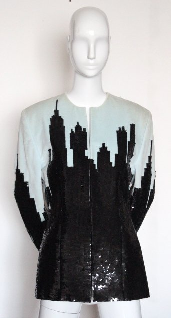 Perry Ellis by Marc Jacobs Cityscape Sequined Jacket