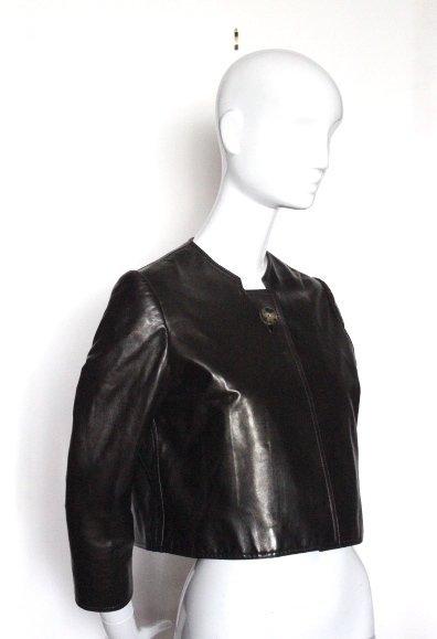 Bill Blass Sheep Skin Leather Jacket, ca. 2000's