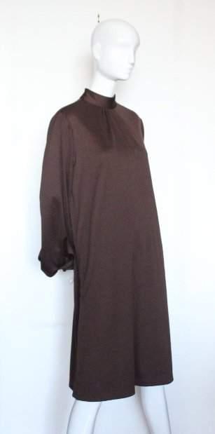 Harold Levine Brown Jersey Knit Dress 1970s