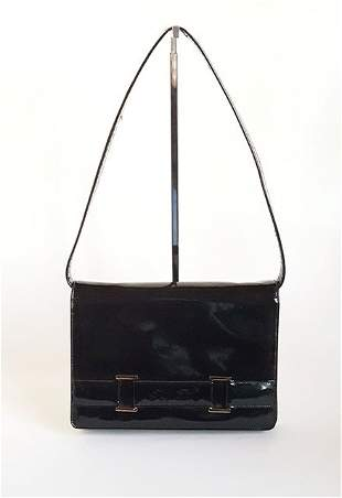Saks Fifth Avenue Patent Leather Bag ca 1970s
